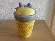 Purple/Yellow Candle Holder in Ramstein, Germany