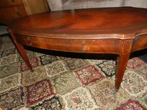 ane Leather top coffee table in Sandwich, Illinois