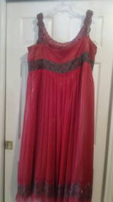 Red Prom/Evening Dress Stunning bead work! in Baytown, Texas