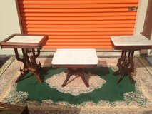 Walnut Victorian Marble Tables in Camp Lejeune, North Carolina