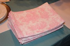 Pink Toile Pattern Table Runners in Fort Leonard Wood, Missouri