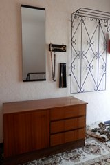 5 Piece Entryway Set , Cabinet, Mirror, Clothsrack + small items in Ramstein, Germany