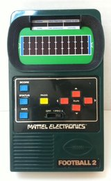 Matels Electronic Hand Held Football game 1978 in Bartlett, Illinois