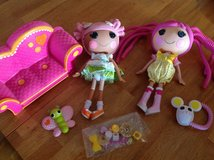 Lot of Lalaloopsy Dolls & couch in Bartlett, Illinois
