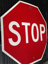 Alumn  Metal Reflective Stop Sign in Cherry Point, North Carolina