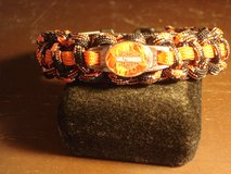 ORANGE  & BLACK HARLEY DAVIDSON PARACORD BRACELET WITH MATCHING CHARM in Barstow, California