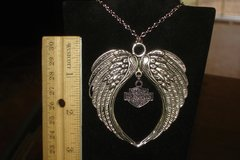 HARLEY DAVIDSON LARGE ANGEL WINGS / BAR & SHIELD NECKLACE in Barstow, California