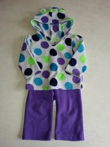 Girl's 9M-12M 2-piece fleece outfit in Aurora, Illinois
