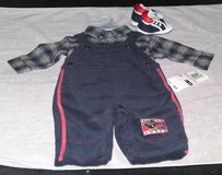 B. T. KIDS ALL STAR CORDUROY BIB OVERALLS/FLANNEL SHIRT W/SHOES in Camp Lejeune, North Carolina