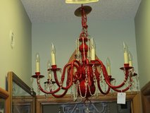The Red Chandelier At  Twice As Nice Flea Market Booth # 605 in Camp Lejeune, North Carolina