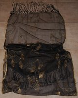 SCARF OR WRAP, SHEER BLACK & METALLIC GOLD in Lakenheath, UK