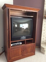 Ethan Allen TV Armoire Cherry Wood Stain in Lockport, Illinois