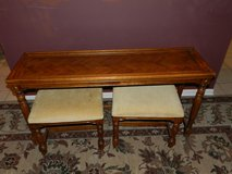 Solid wood side table with two benches - in Sandwich, Illinois