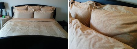 Restoration Hardware Thai Silk King Douvet + 3 Euro / 2 King Shams in Glendale Heights, Illinois