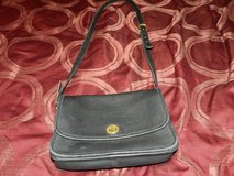 Black vintage leather coach purse in Aurora, Illinois
