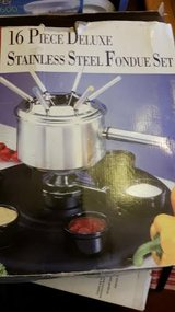 New Stainless Steel 16 Piece Fondue Set in Fort Campbell, Kentucky
