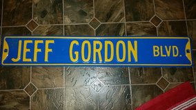 Jeff Gordon Metal Sign in Clarksville, Tennessee