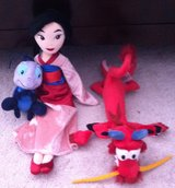 3 Disney Mulan plush collection in Fort Campbell, Kentucky