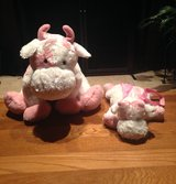 Big Cow plush and baby cow backpack in Fort Campbell, Kentucky