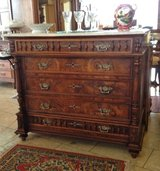 beautiful antique dresser with white Carrara marble top in Spangdahlem, Germany