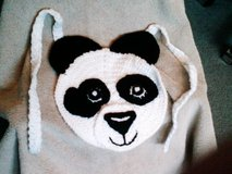 crochet bib panda bear in Bartlett, Illinois