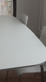 white ikea table 4 chairs in Ramstein, Germany