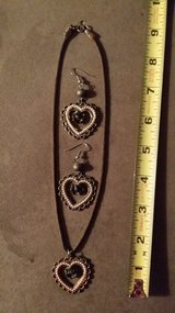 Heart and Rose Necklace and Earrings in Fort Lewis, Washington