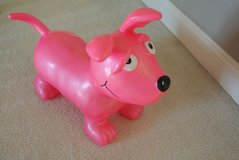 Wahoo Bouncy Dog from Learning Express in Naperville. Comes with hand pump. in Lockport, Illinois