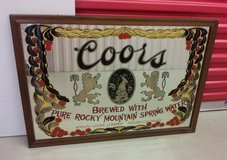 Vintage Bar Large COORS Beer Rocky Mountain Spring Water Mirror Wall Sign. in Stuttgart, GE