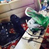 Snowboard and boot set size 10 in Manhattan, Kansas