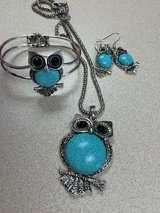Turquoise owls set in Conroe, Texas