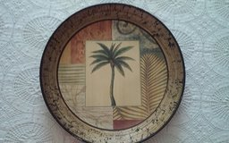 Decorative Palm Tree Plate in Conroe, Texas