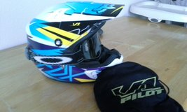 Fox off road helmet and Oakley goggles in Camp Pendleton, California