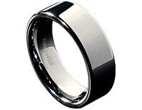 Tungsten Ring Flat Polished, Multiple Sizes Available. in 29 Palms, California