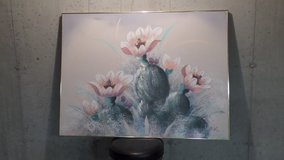 E. Lee Floral Oil Painting-signed in Naperville, Illinois
