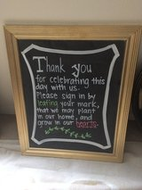 Gold Framed Chalkboard sign, Wedding Decoration in Chicago, Illinois