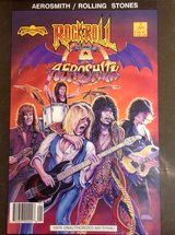 AEROSMITH ROLLING STONES RARE COMIC BOOK COLLECTIBLE 1990 (25 years old!!) in Okinawa, Japan