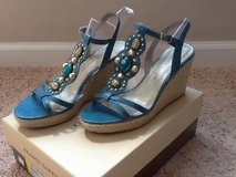 Teal Jeweled Wedges in Camp Lejeune, North Carolina