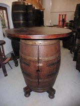 French wine barrel table bar in Wiesbaden, GE