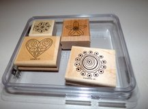 Polka Dot Punches wood Stamp set - Stampin Up in Chicago, Illinois