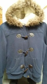 Furry Hoodie Coat in Fort Lewis, Washington