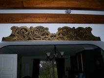 Antique Carved wooden freeze, possibly a Pelmet, probably mahogany wood. in Lakenheath, UK