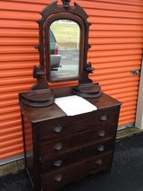 Walnut Dresser W/Mirror Marble in Camp Lejeune, North Carolina
