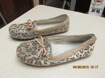Womens' Leopard-Design Moccasin Shoes - Size 7-8 - REDUCED in Kingwood, Texas