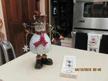 Gorgeous New Snowman Sculpture & Tealight Holder - Nearly A Foot High! in Kingwood, Texas