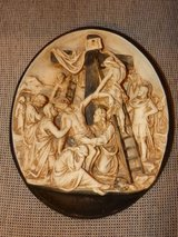 RARE French 13th Station of the Cross Plaque in Stuttgart, GE
