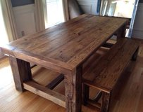 Coffee dinner dining table chair bench wood in Camp Lejeune, North Carolina