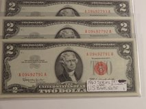 3 - 1963 U.S. Bank Note consecutive series in Houston, Texas