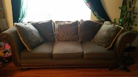 chocolate Vintage *style* sofa in Fort Lewis, Washington