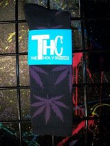 THC Socks Black & Purple in Barstow, California